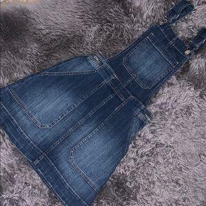 Denim overal skirt jumper
